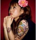 Girl asian tattoo