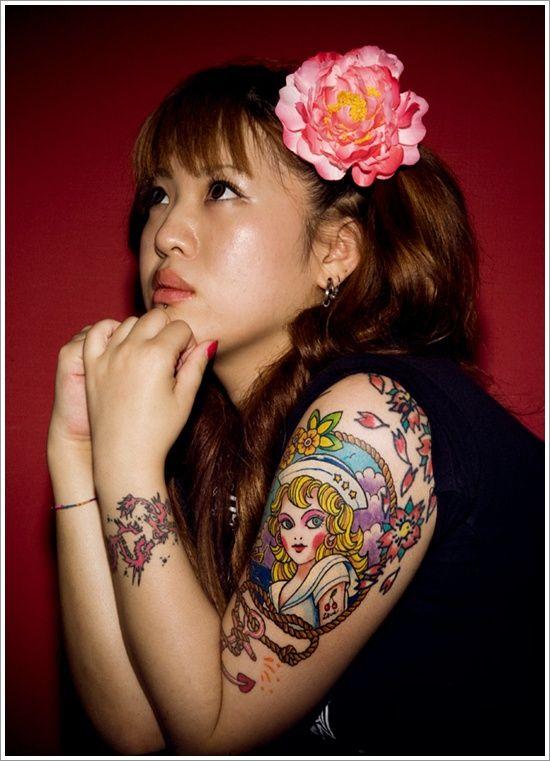 Girl asian tattoo