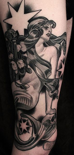 Girl tattoo by James Spencer Briggs