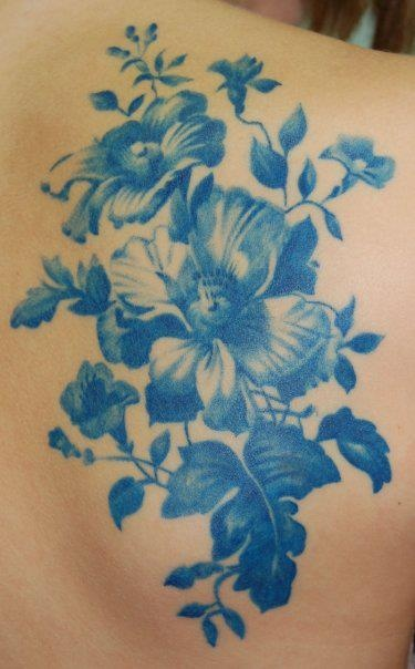 Gorgeous blue tattoo