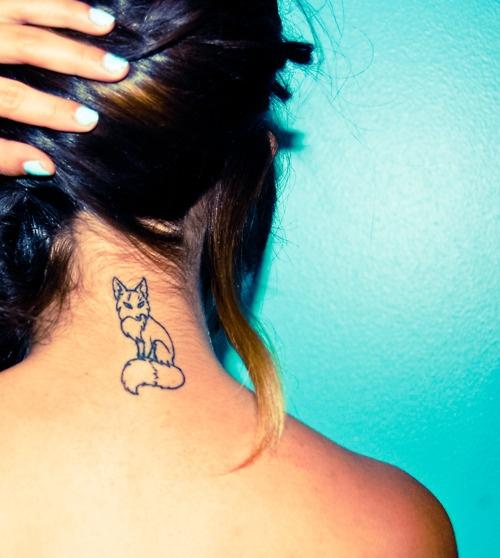 Gorgeous fox tattoo