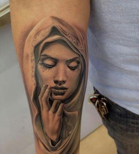 Gorgeous religious tattoo