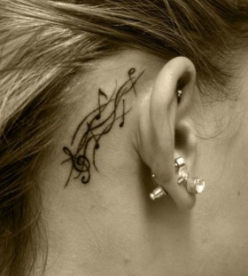 Great placed music tattoo