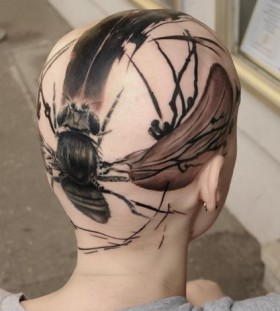 Head tattoo by Volko Merschky