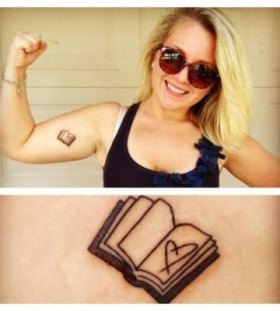 Heart and book tattoo