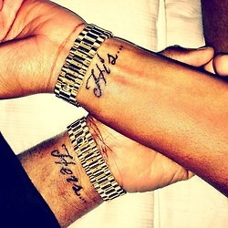 His and  her couples tattoo