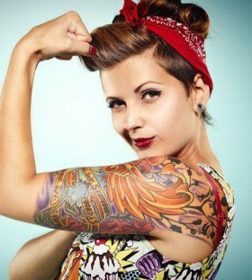 Hot woman tattoo