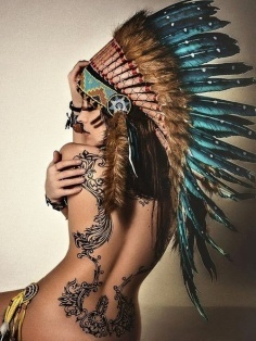 Indian back tattoo