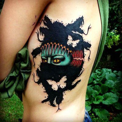 Interesting tattoo by Aivaras Lee