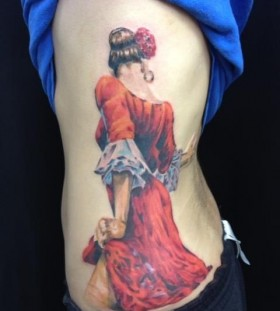 Italian dancer tattoo