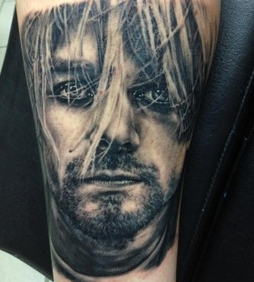 Kurt Cobain tattoo by Andy Engel