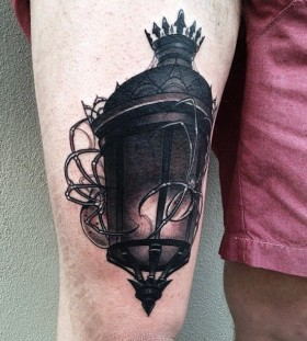 Lantern tattoo by Pari Corbitt