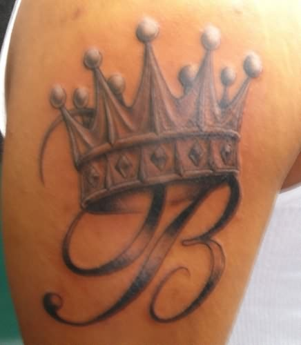 Letter and crown tattoo   | TattooMagz › Tattoo Designs / Ink