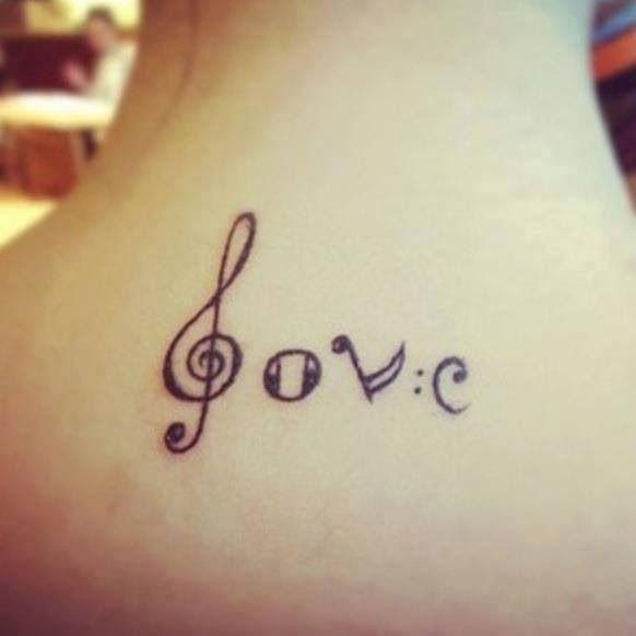 Love music tattoo