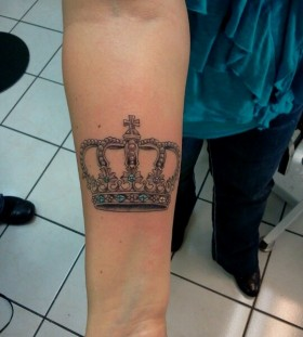 Lovely crown tattoo