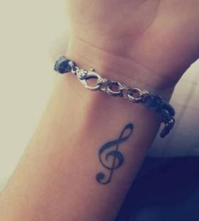 Lovely music tattoo