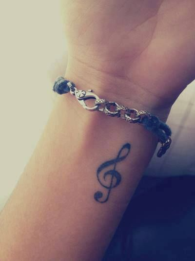 Lovely music tattoo