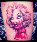 Marilyn Monroe tattoo Zombie