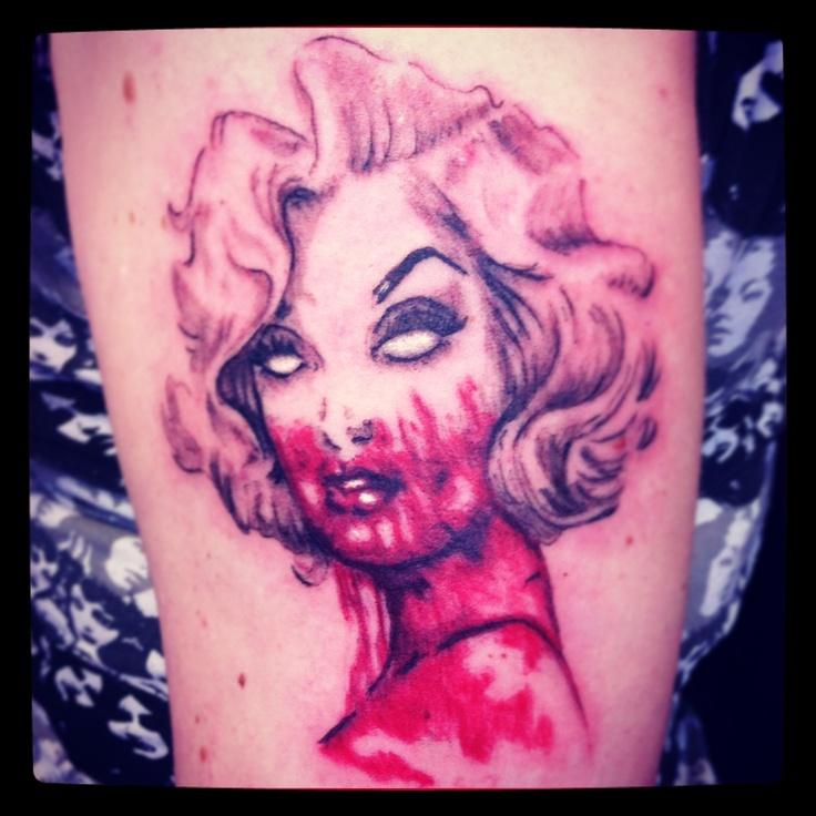 Marilyn Monroe tattoo Zombie