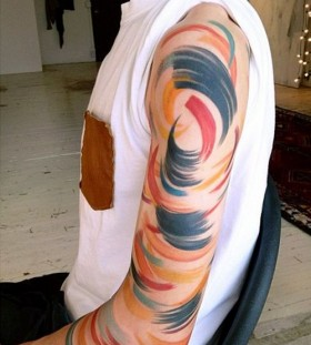 Men arm tattoo by Amanda Wachob