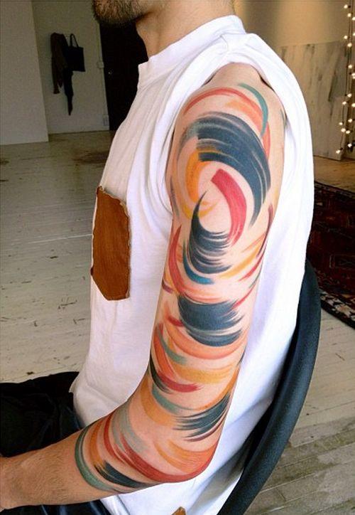 Men arm tattoo by Amanda Wachob