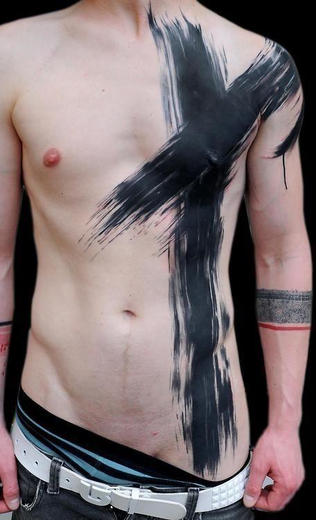 Men black tattoo