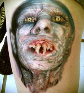 Nosferatu scary tattoo
