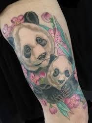 Panda tattoo by Michael Norris