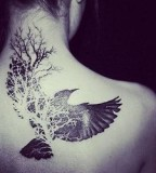 Pretty bird tattoo