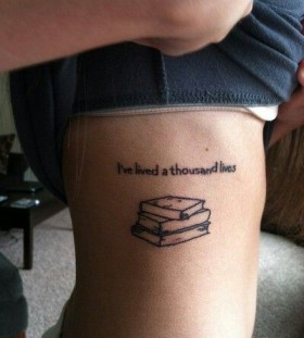 Pretty book tattoo