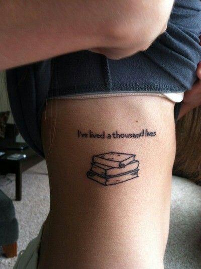 Pretty book tattoo
