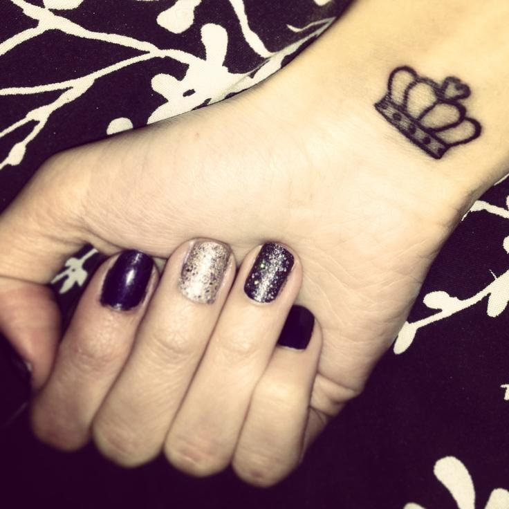 Pretty crown tattoo