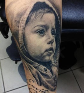 Pretty kids tattoo by Andy Engel