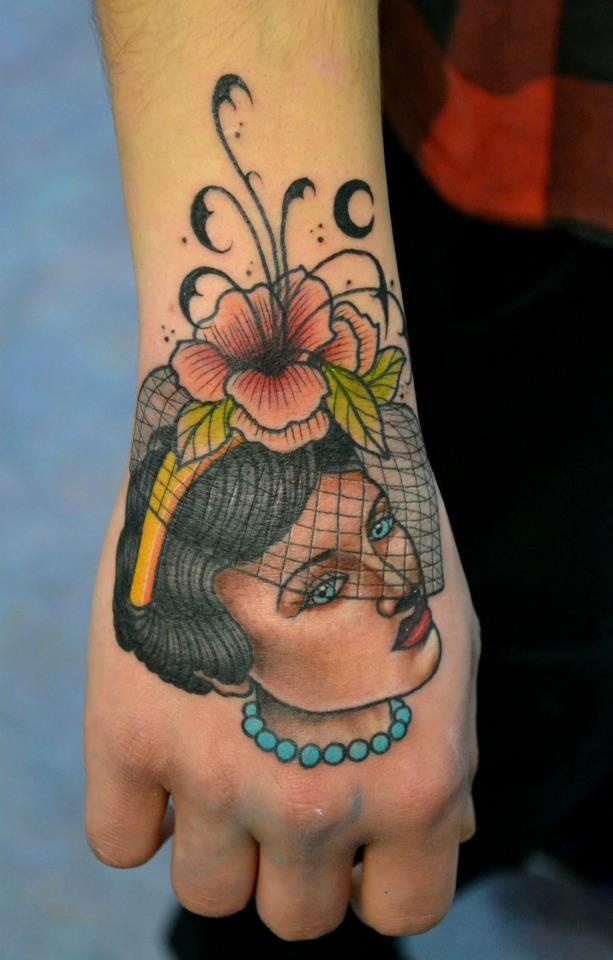Pretty woman tattoo by Aivaras Lee