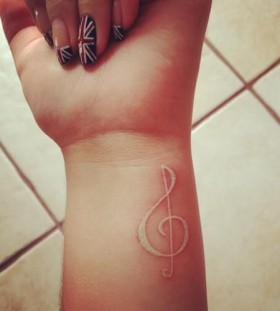 Pretty wrist music tattoo