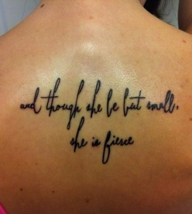 Quotes tattoo by Duane