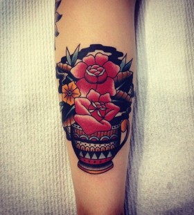 Red tattoo by Kirk Jones