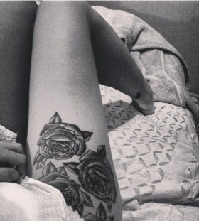 Roses hip tattoo