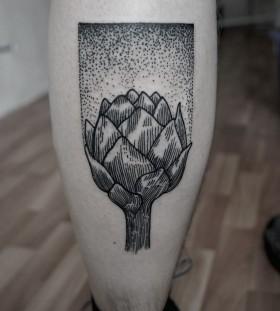 SV.A tattoo atrichoke