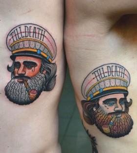 Sailor tattoo by Aivaras Lee
