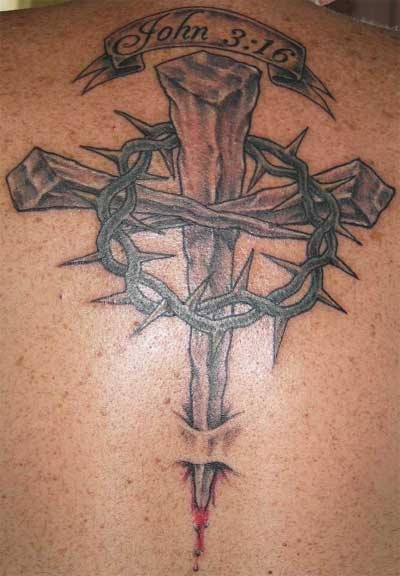 Religious design tattoo