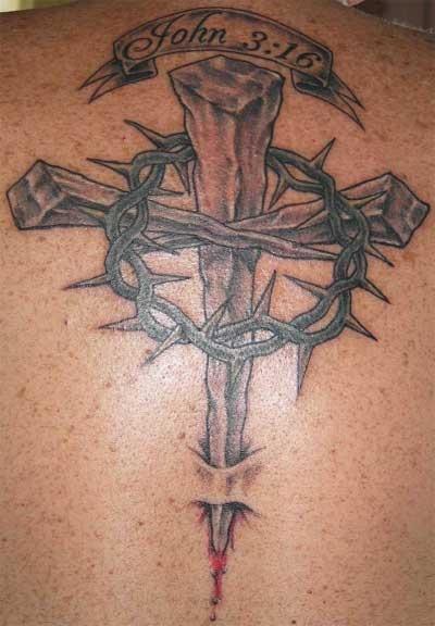 Religious design tattoo