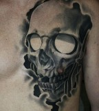 Scary skull tattoo by James Spencer Briggs