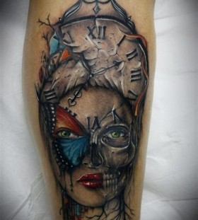 Scary woman tattoo
