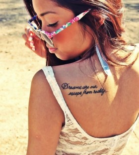Shoulder quotes tattoo