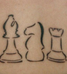 Simple chess tattoo