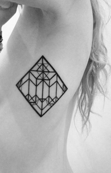 Simple girl geometric tattoo