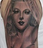 Simple girl tattoo by James Spencer Briggs