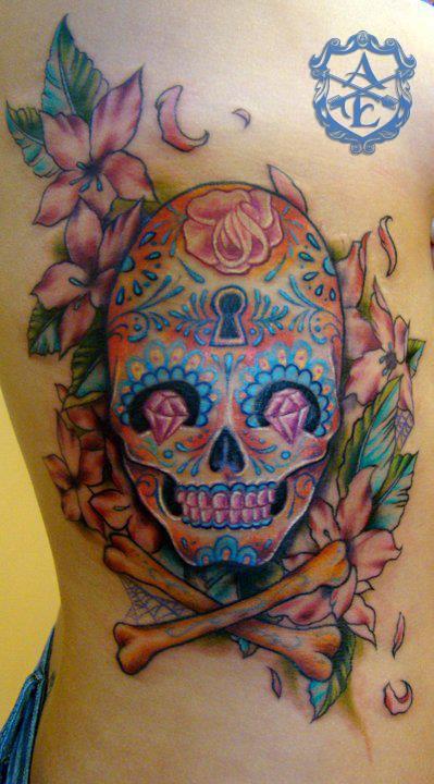 Skull tattoo by Sean Ambrose
