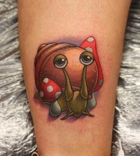 Snail tattoo by Michelle Maddison